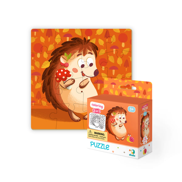 Dodo Colouring Puzzle 2 in 1 Hedgehog