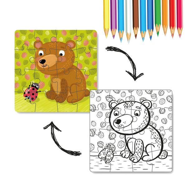 Dodo Colouring Puzzle 2 in 1 Little Bear