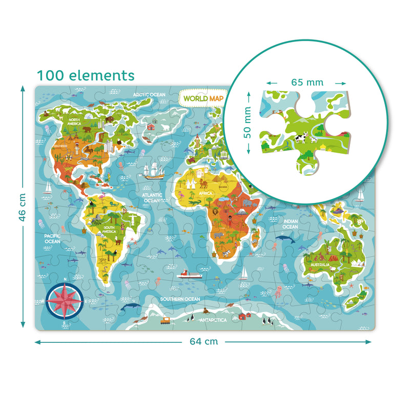 Dodo Puzzle Map of The World