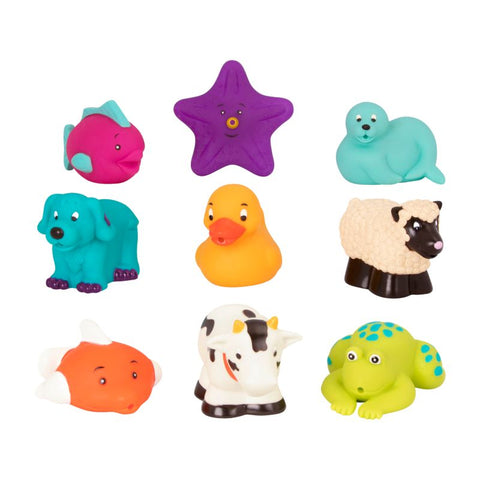 Battat Bath Buddies 9 Pack