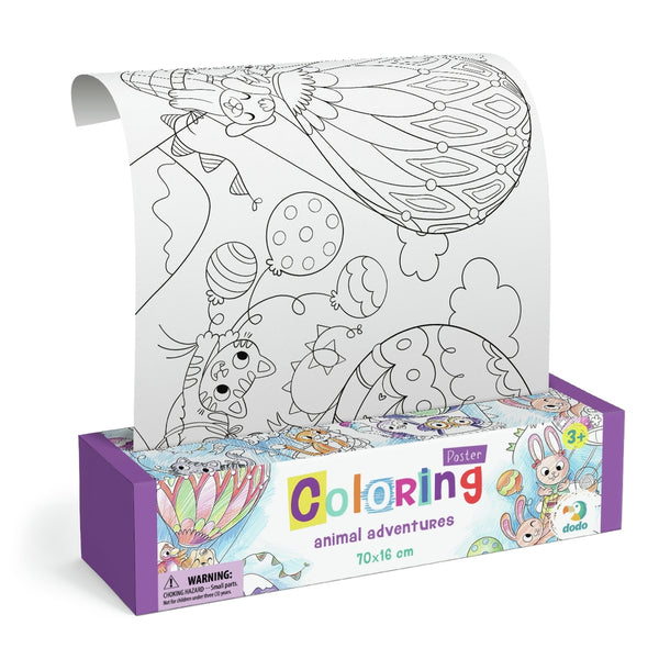 Dodo Colouring Poster Animal Adventurers