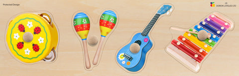 Doron Layeled Musical Instruments Giant Peg Puzzle