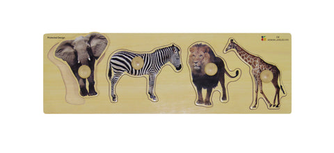 Doron Layeled Wild Animals Giant Peg Puzzle