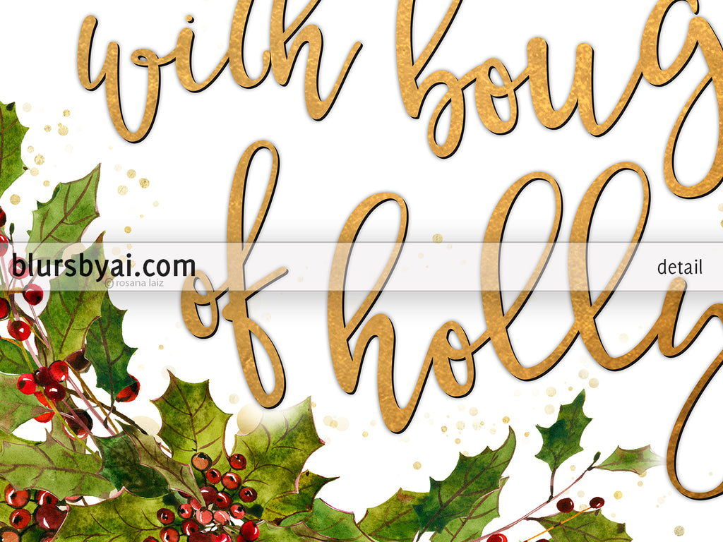 This is a photo of Crazy Deck the Halls Lyrics Printable