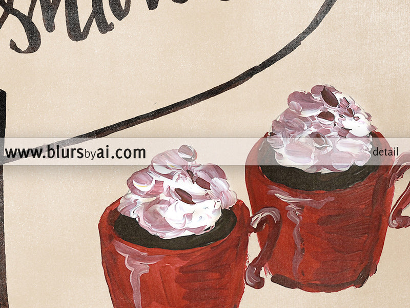 Hand lettered hot cocoa printable sign