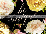 Be unique, inspirational printable home decor featuring dark florals