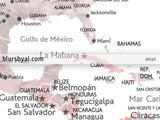"Custom quote - watercolor printable world map with cities, capitals, countries, US States... labeled in Spanish. ""Piper"""