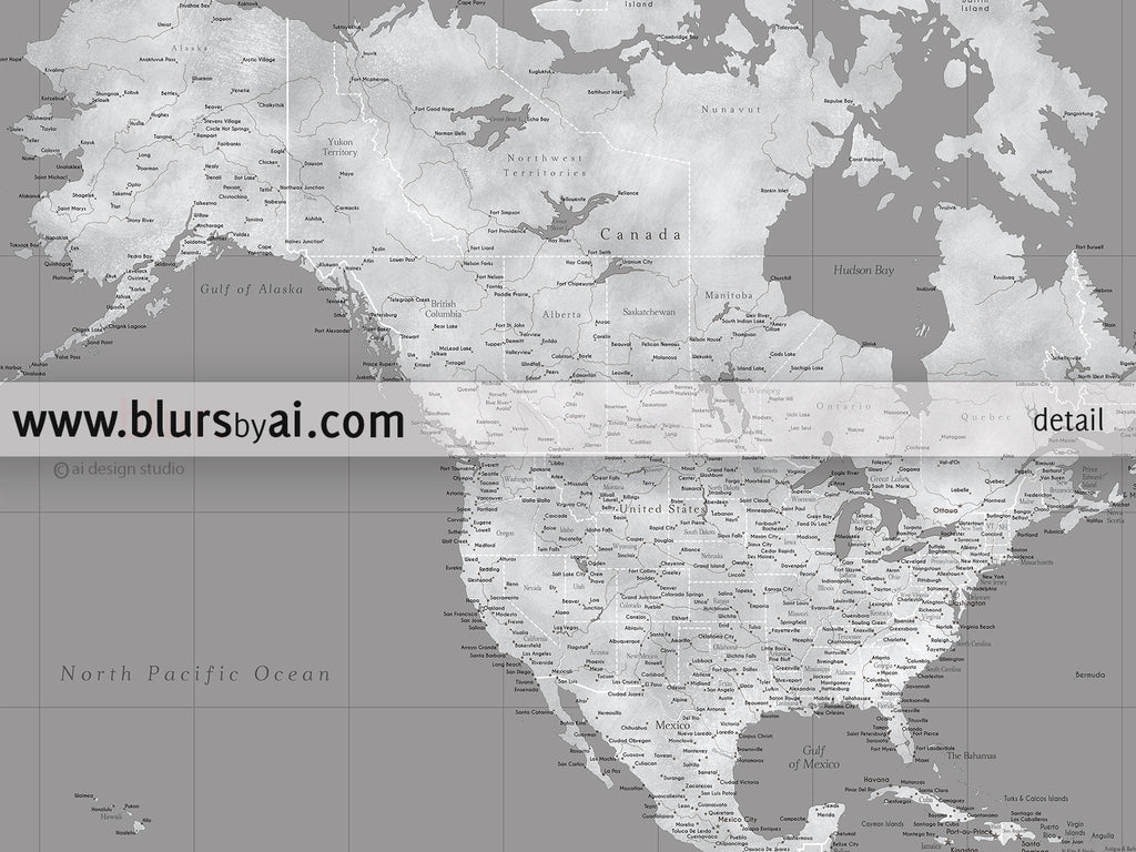 Custom quote highly detailed world map poster grunge grayscale valentina custom quote highly detailed world map poster grunge grayscale gumiabroncs Choice Image