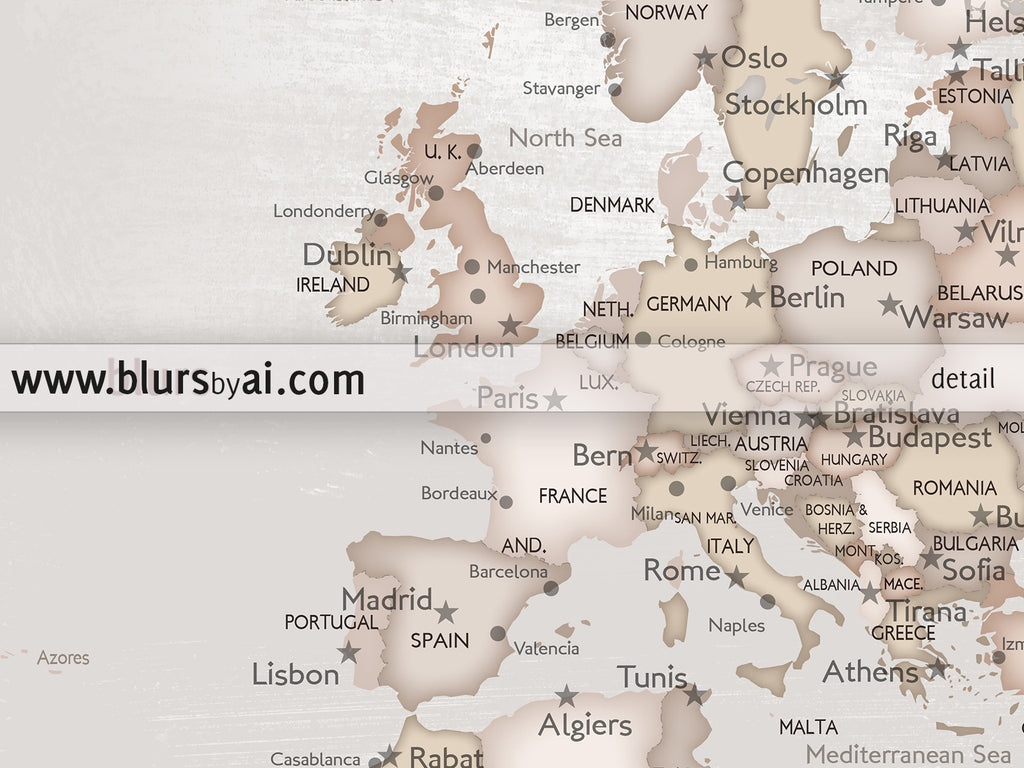X Printable World Map With Cities In Rustic Style The World - Norway map to print