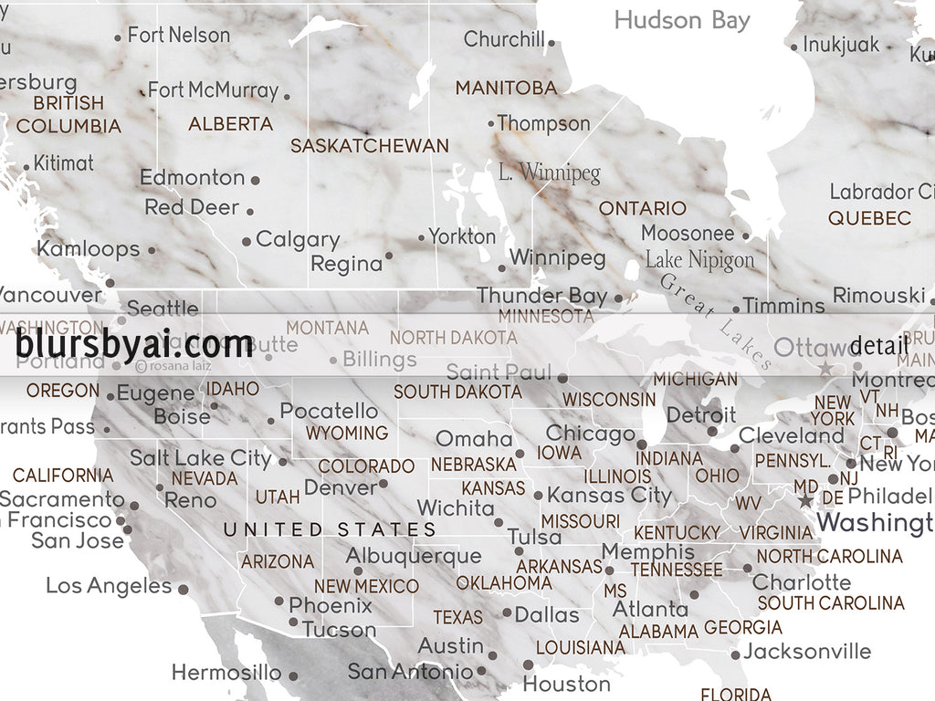 Wedding guestbook map: custom marble effect world map with cities ...