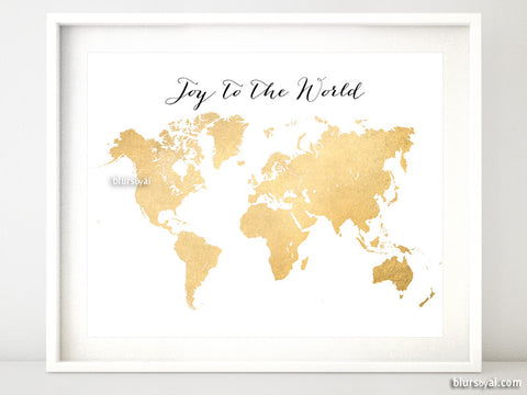 Joy to the world, printable world map
