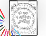 Pack of printable coloring pages: Inspirational quotes - pack of 3