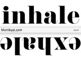 Inhale exhale scandinavian minimalist printable decor