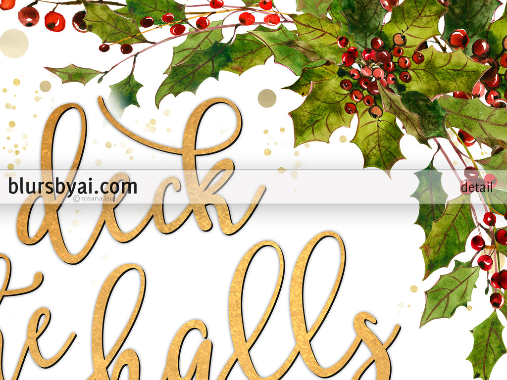 It is a picture of Irresistible Deck the Halls Lyrics Printable