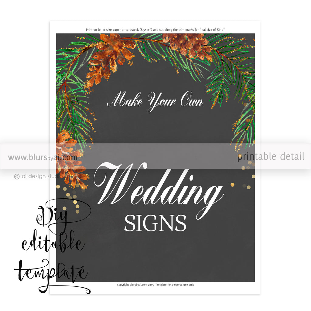 X DIY Printable Sign Template For Word Make Your Own - Chalkboard sign template
