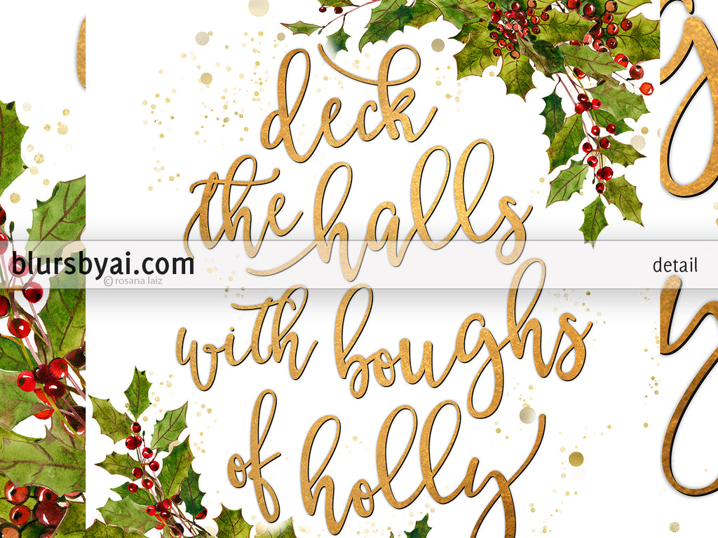 It is a picture of Fan Deck the Halls Lyrics Printable