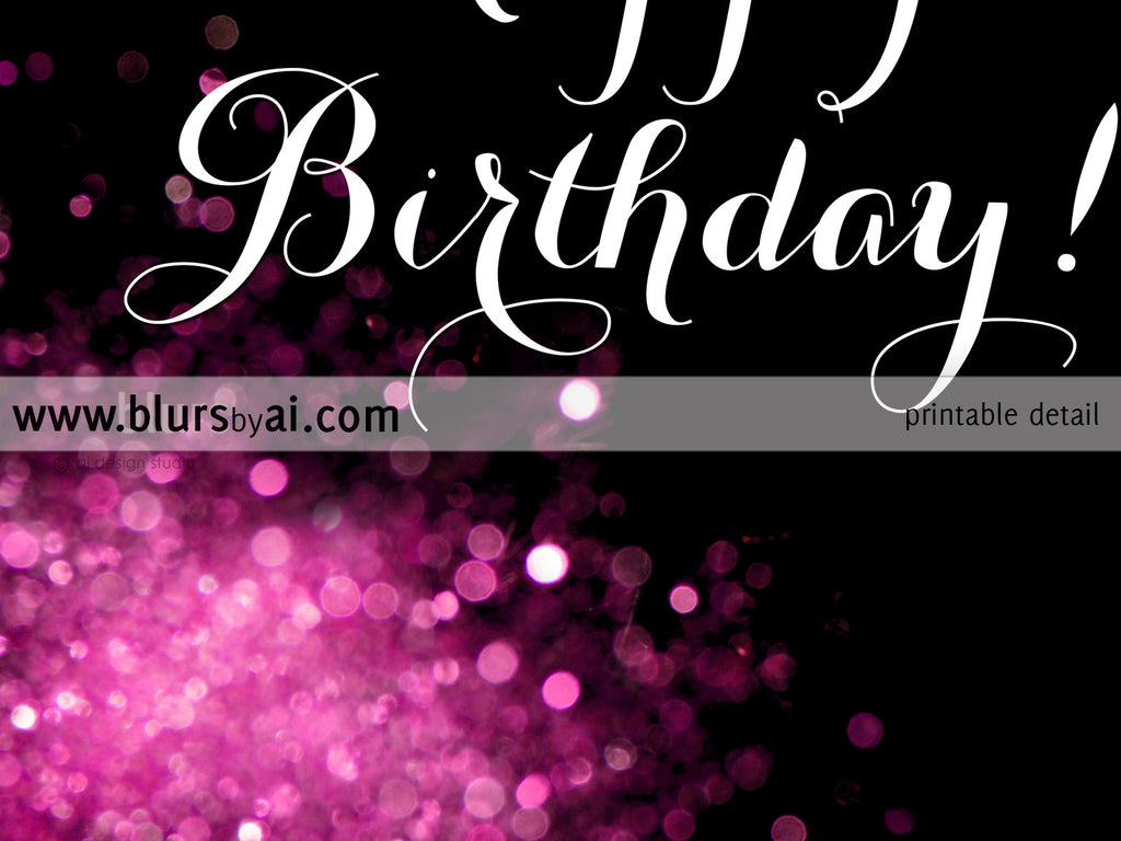 image about Happy Birthday Printable Sign identified as Satisfied Birthday printable signal within incredibly hot crimson and black