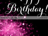 Happy Birthday printable sign in hot pink and black
