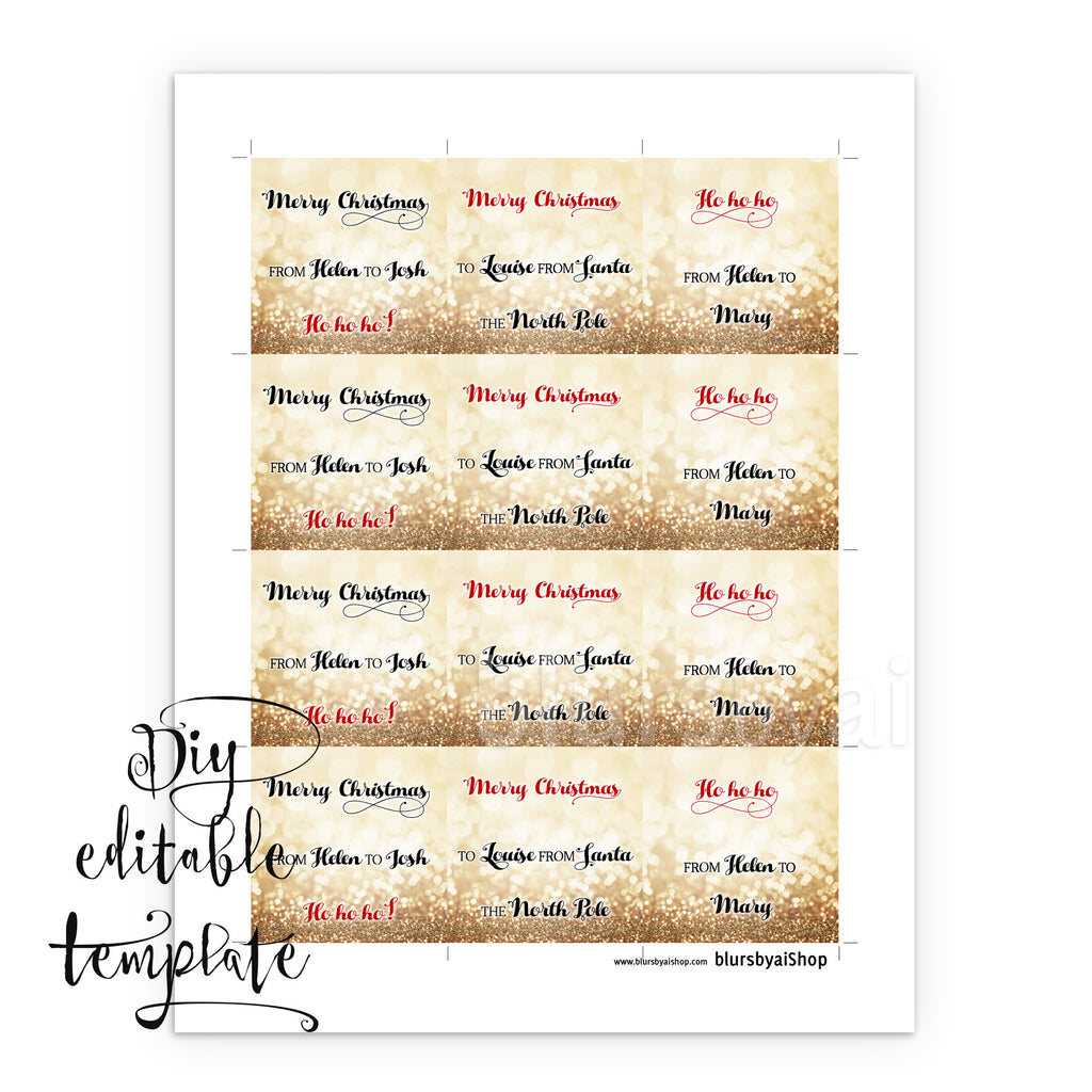 printable christmas gift tags template for word fully editable wordin blursbyai. Black Bedroom Furniture Sets. Home Design Ideas