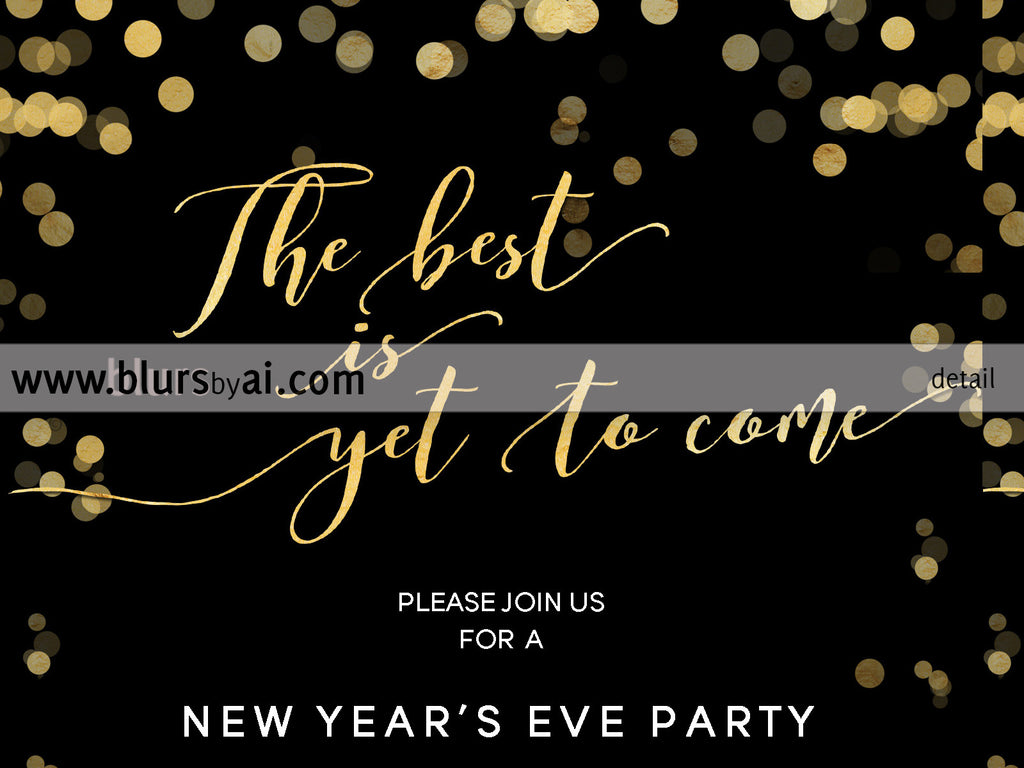 Printable New Year's Eve party invitation template for Word, in ...