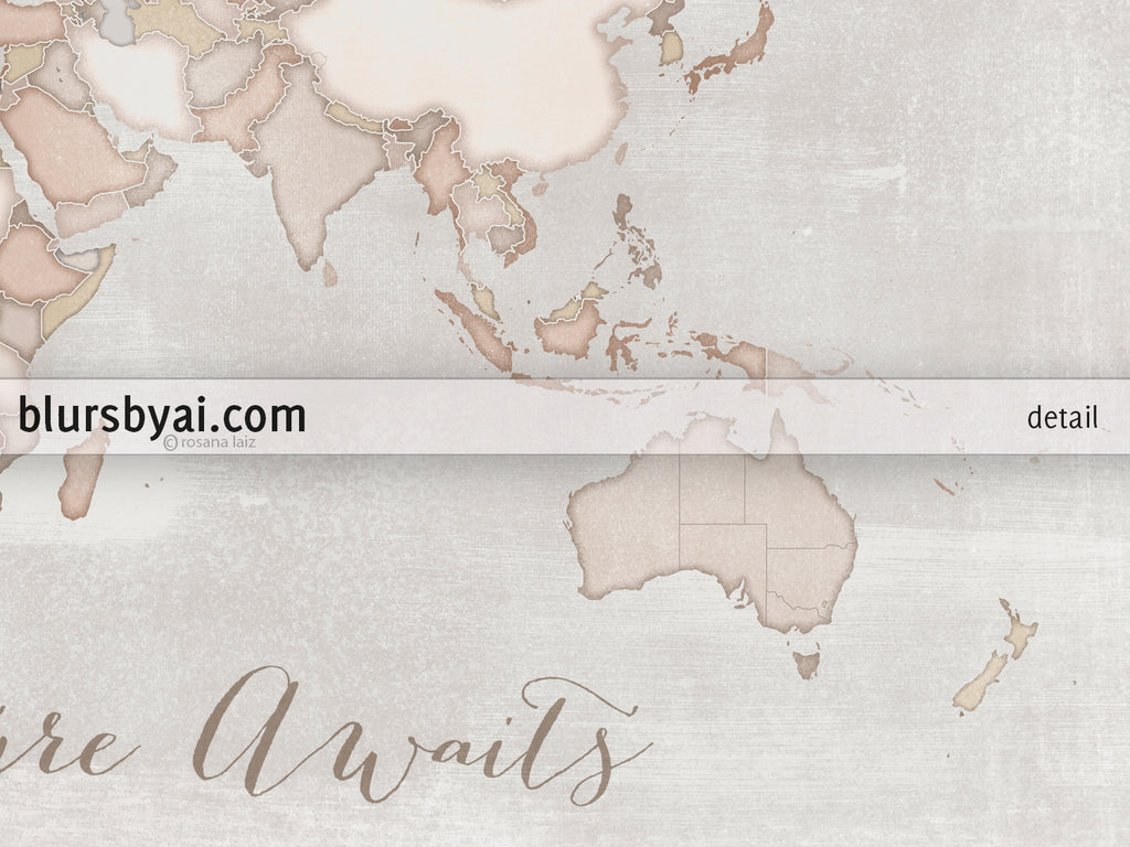 Adventure awaits rustic small world map push pin for marking your adventure awaits rustic small world map push pin for marking your travels 12x9 gumiabroncs Images