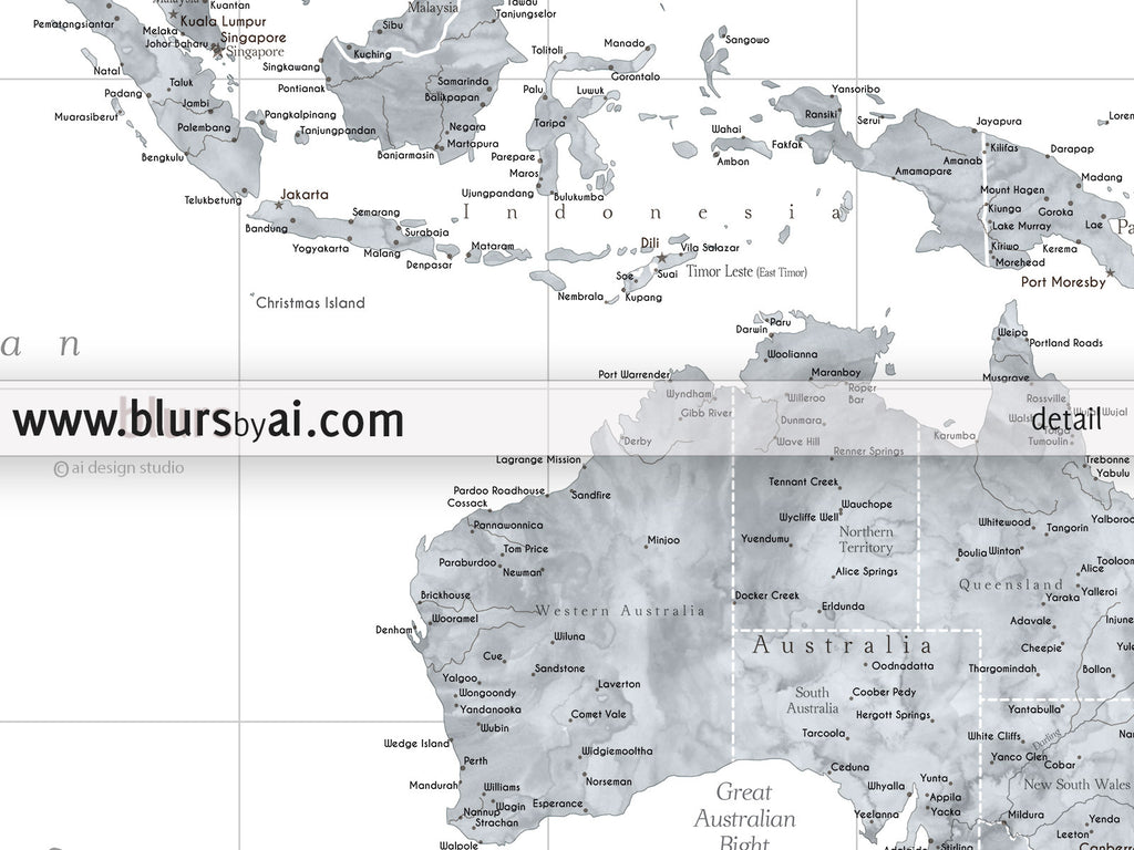 Custom quote highly detailed world map poster grayscale custom quote highly detailed world map poster grayscale watercolor map jimmy gumiabroncs Gallery