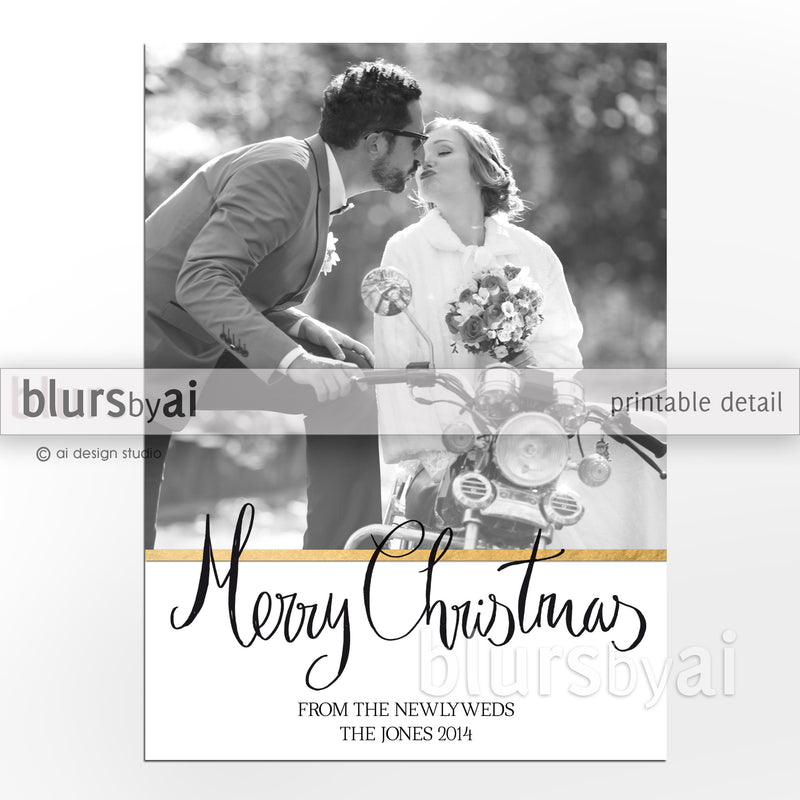 "Custom Christmas photo card ""Merry Christmas"""
