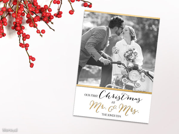 "Custom Christmas photo card ""First Christmas"""