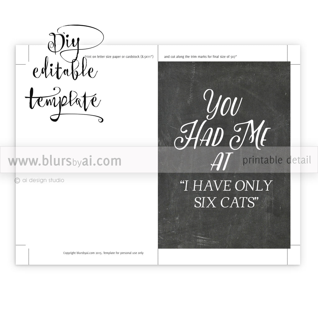 Printable Valentines Day Card Template For Word You Had Me At