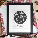Printable personalized neighbourhood map