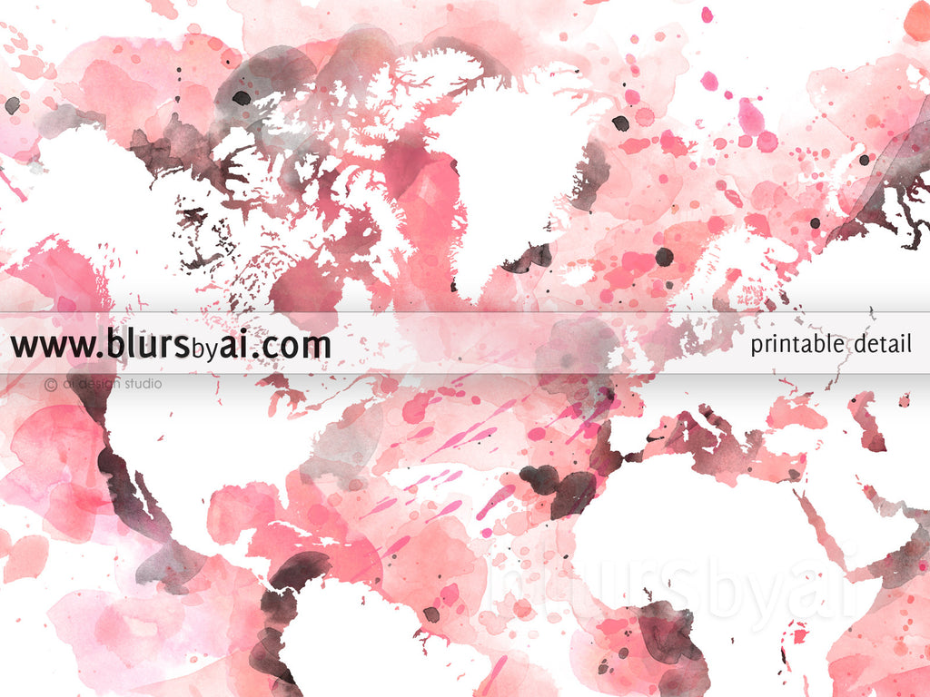 Light pink and grey watercolor world map in distressed strokes light pink and grey watercolor world map in distressed strokes gumiabroncs Images