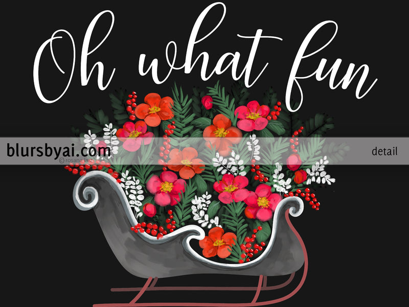 "Personalized PRINTABLE holiday decor, ""Oh what fun"" - Edit with Corjl"
