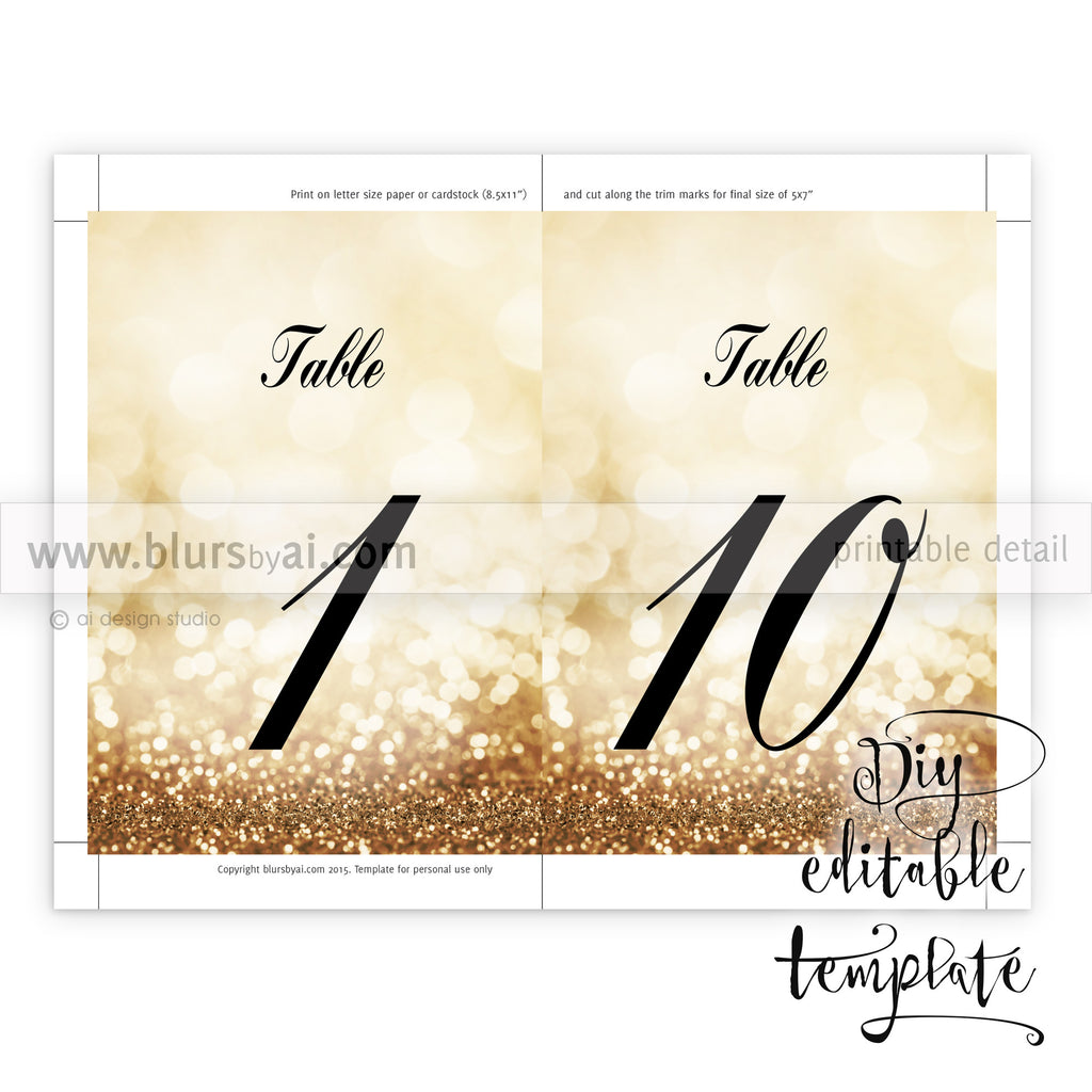 picture about Printable Table Number named 5x7\