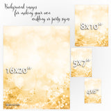 Gold glitter bokeh background images for making your own wedding signs or party signs