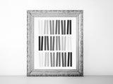 Geometric ombre abstract printable art in black and gray