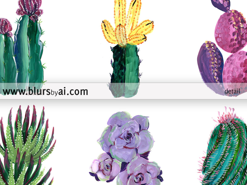 Cacti and succulent illustration printable art - Personal use