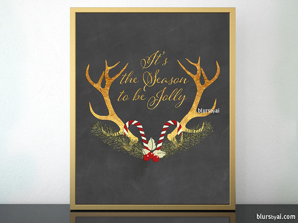 It's the season to be jolly, printable home decor