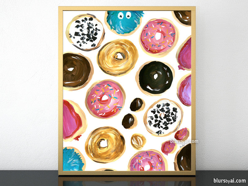 Lots of donuts printable home decor, #2 - Personal use