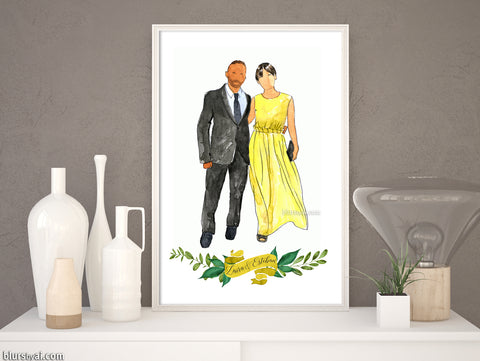 Printable family portrait