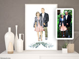 Printable custom family portrait