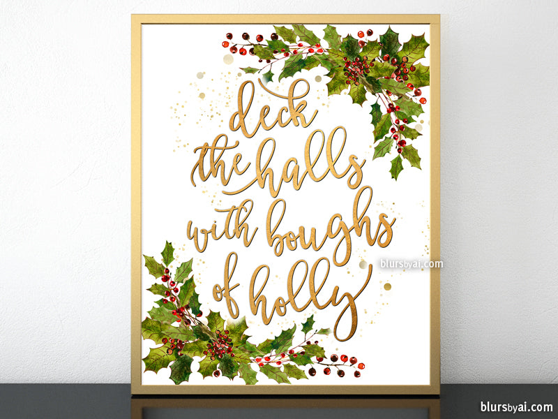This is a picture of Adaptable Deck the Halls Lyrics Printable