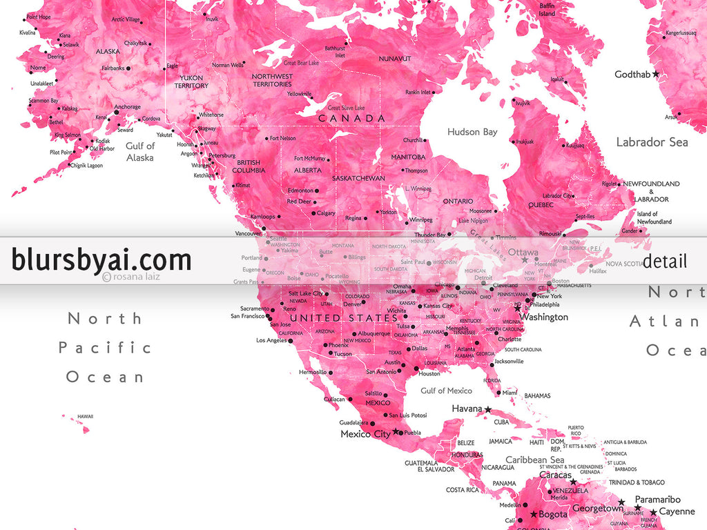 North America Maps With Countries Labeled Diagrams Get Free - Map us states labeled