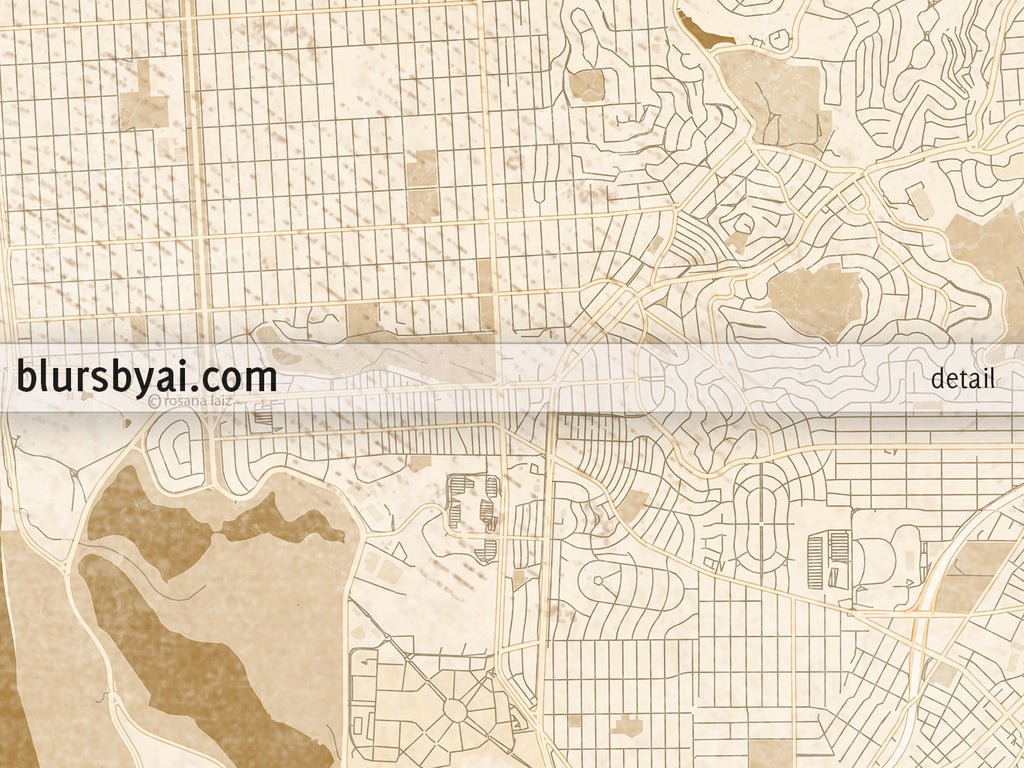 graphic relating to Printable Map of San Francisco referred to as Printable map of San Francisco Penninsula within sepia traditional design and style