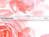 Printable dreamy pink watercolor peonies