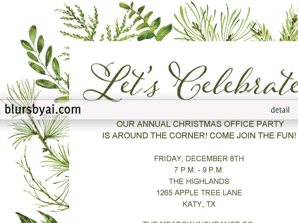 100+ [ Annual Holiday Party Invitation Template ] | Morwell ...