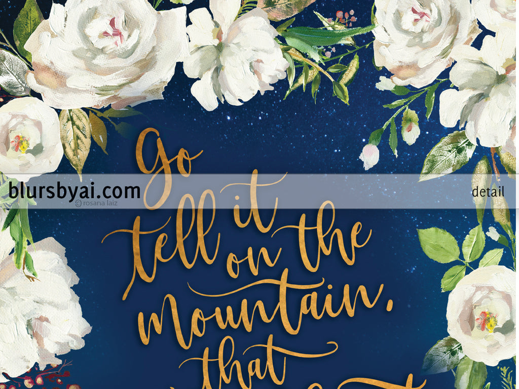 Editable Pdf Christmas Card Template Go Tell It On The Mountain In