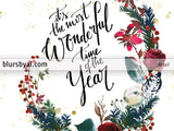 Editable pdf Christmas card template: It's the most wonderful time of the year!