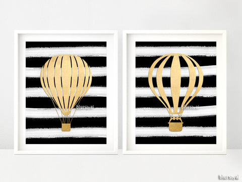 Faux gold foil artworks