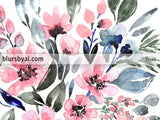 "Printable loose watercolor bouquet, ""Clara"""