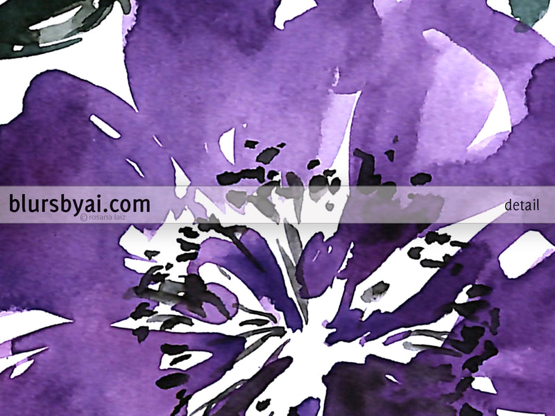 "Printable floral abstract bouquet, ""Amara 2"" - Personal use"